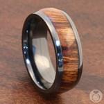 Wanderer - Zirconium & Wood Mens Wedding Band   Thumbnail 04