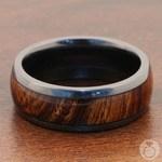 Wanderer - Zirconium & Wood Mens Wedding Band   Thumbnail 05