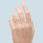 Domed Promise Ring with Princess Diamond in Yellow Gold (2.9mm)   Thumbnail 06