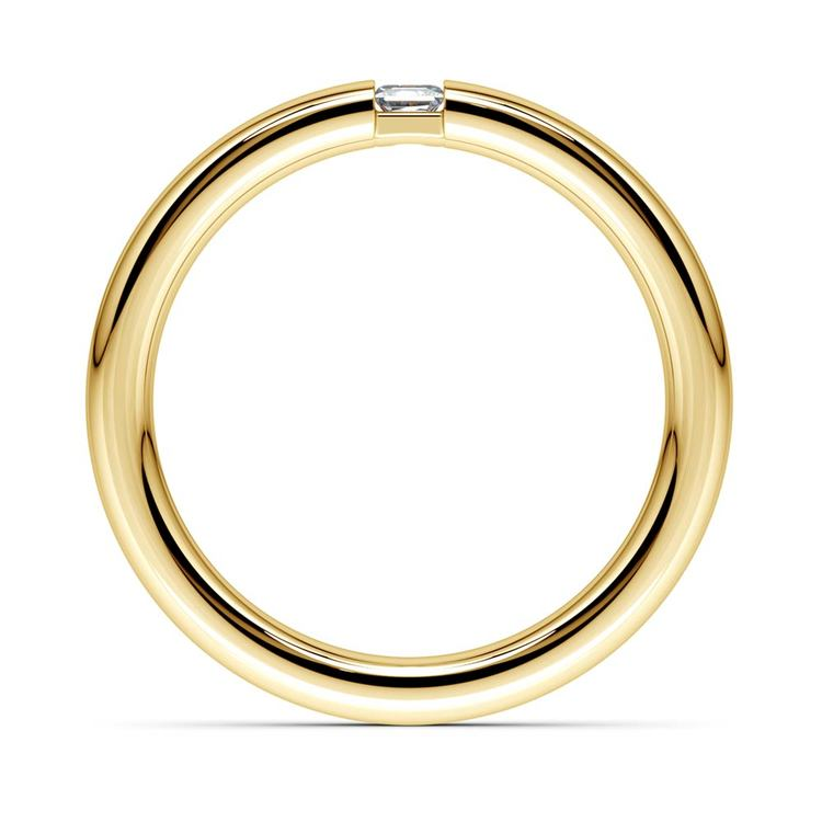 Domed Promise Ring with Princess Diamond in Yellow Gold (2.9mm) | 03