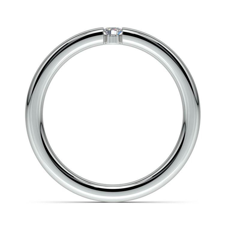 Domed Promise Ring with Round Diamond in White Gold (2.75mm) | 03