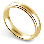 Domed Step Edge Wedding Ring (4 mm) in Yellow Gold | Thumbnail 01