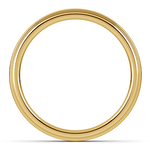 Domed Step Edge Wedding Ring (4 mm) in Yellow Gold | Thumbnail 03