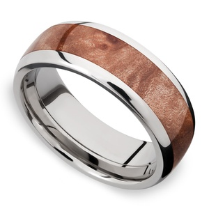 Jupiter - Titanium & Wood Mens Wedding Band