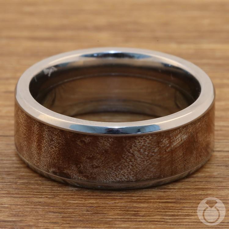 Jupiter - Titanium & Wood Mens Wedding Band | 04