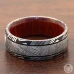 Magnum - Damascus & Meteorite Mens Wedding Band | Thumbnail 04