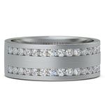 Double Channel Diamond Men's Wedding Ring in Platinum | Thumbnail 03