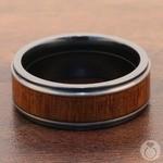 Drifter - Zirconium Mens Band with Koa Wood Inlay | Thumbnail 04