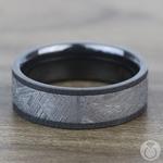 Eclipse - Satin Zirconium Mens Ring with Meteorite Inlay | Thumbnail 03