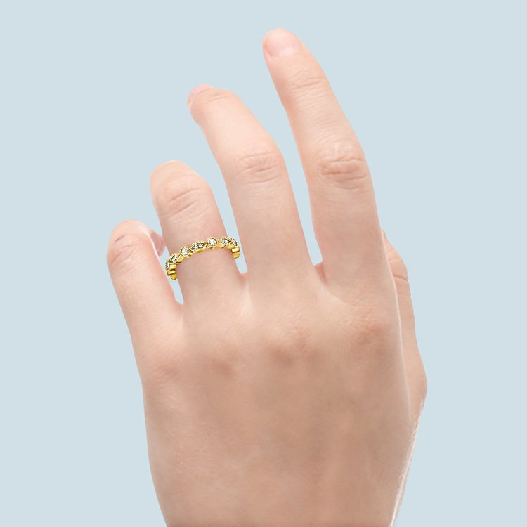 Edwardian Style Diamond Eternity Band in Yellow Gold | 06