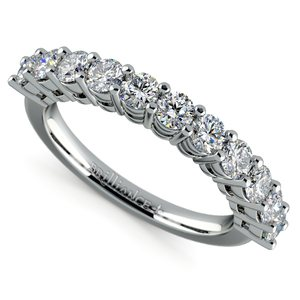 Eleven Diamond Wedding Ring in White Gold (1 ctw)
