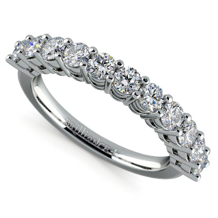 Eleven Diamond Wedding Ring in White Gold (1 ctw) | 01