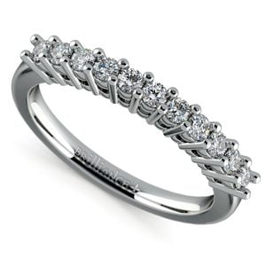 Eleven Diamond Wedding Ring in White Gold (1/3 ctw)