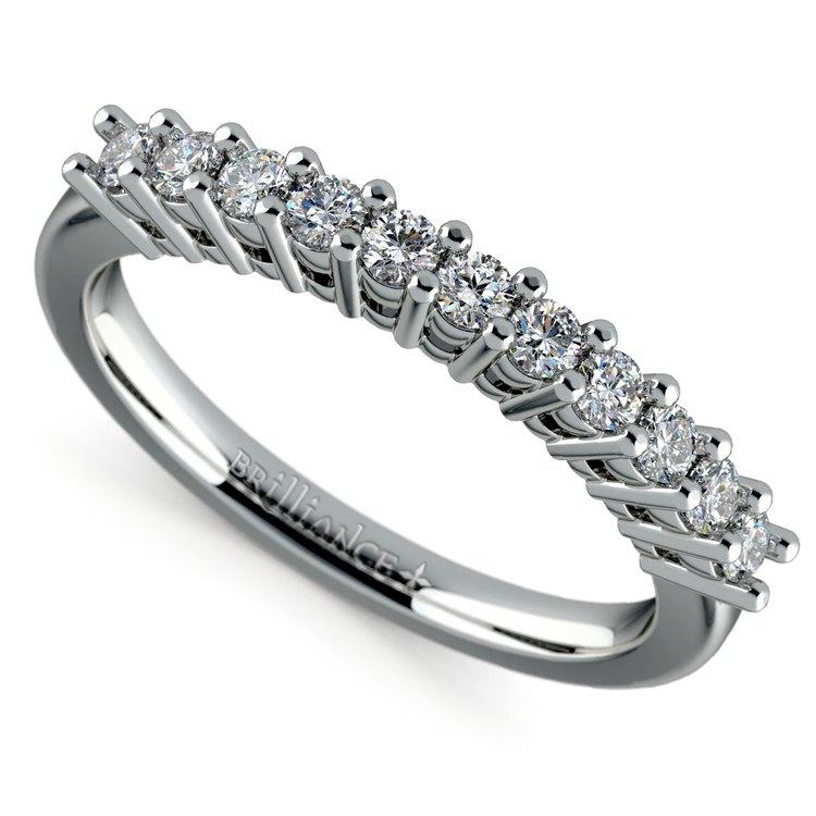 Eleven Diamond Wedding Ring in White Gold (1/3 ctw) | 01