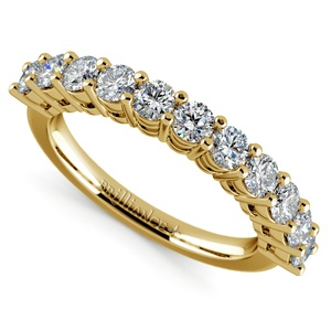 Eleven Diamond Wedding Ring in Yellow Gold (1 ctw)