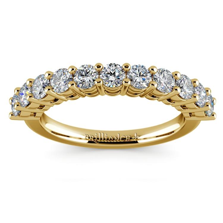 Eleven Diamond Wedding Ring in Yellow Gold (1 ctw) | 02