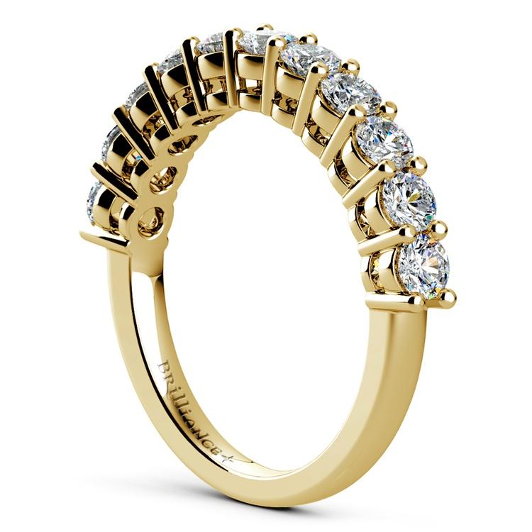 Eleven Diamond Wedding Ring in Yellow Gold (1 ctw) | 04