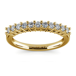 Eleven Diamond Wedding Ring in Yellow Gold (1/3 ctw) | Thumbnail 02