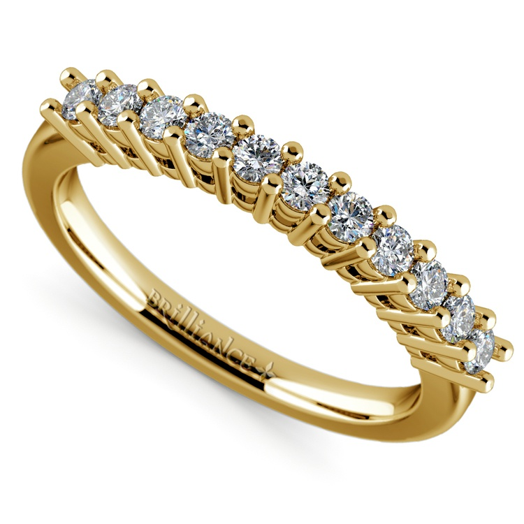 Eleven Diamond Wedding Ring in Yellow Gold (1/3 ctw) | 01