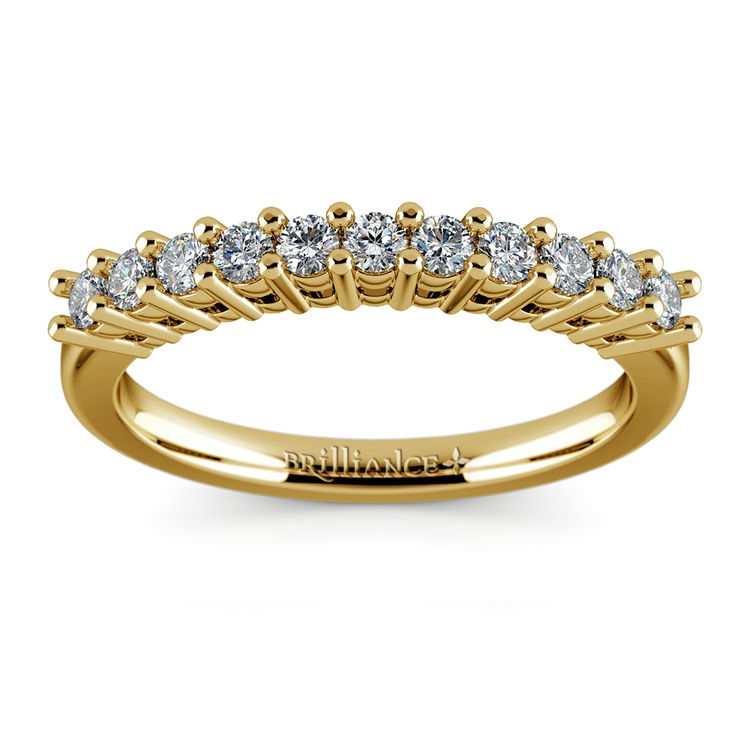 Eleven Diamond Wedding Ring in Yellow Gold (1/3 ctw) | 02
