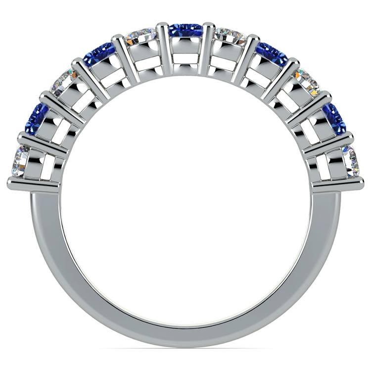 Eleven Diamond & Sapphire Wedding Ring in White Gold | 03
