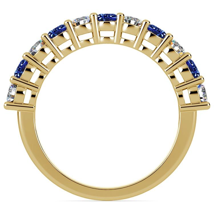 Eleven Diamond & Sapphire Wedding Ring in Yellow Gold | 03