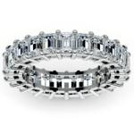 Emerald Diamond Eternity Ring in Platinum (5 2/3 ctw)   Thumbnail 02
