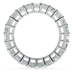Emerald Diamond Eternity Ring in Platinum (5 2/3 ctw)   Thumbnail 03