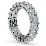 Emerald Diamond Eternity Ring in Platinum (5 2/3 ctw)   Thumbnail 04