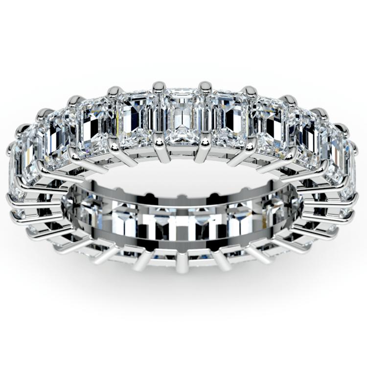 Emerald Diamond Eternity Ring in Platinum (5 2/3 ctw)   02
