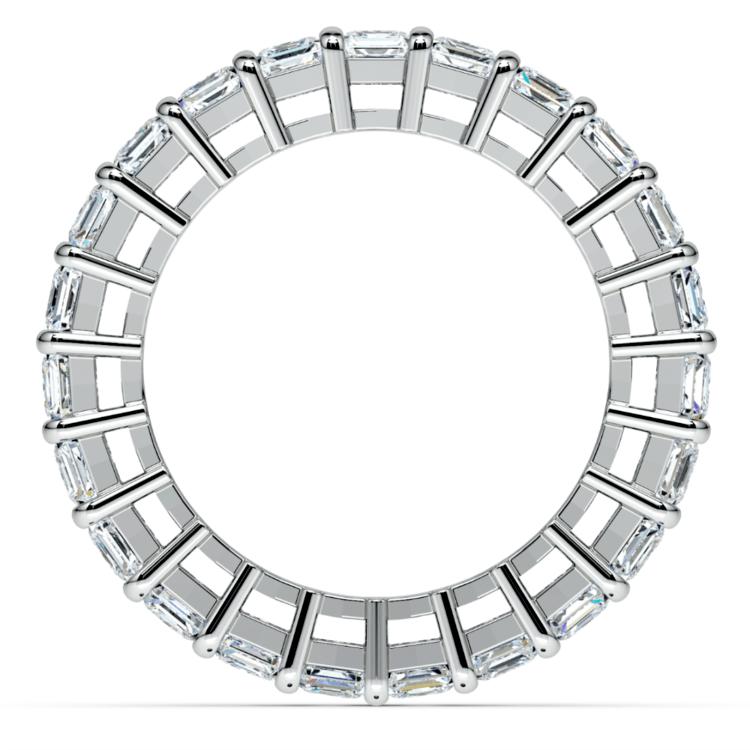 Emerald Diamond Eternity Ring in Platinum (5 2/3 ctw)   03
