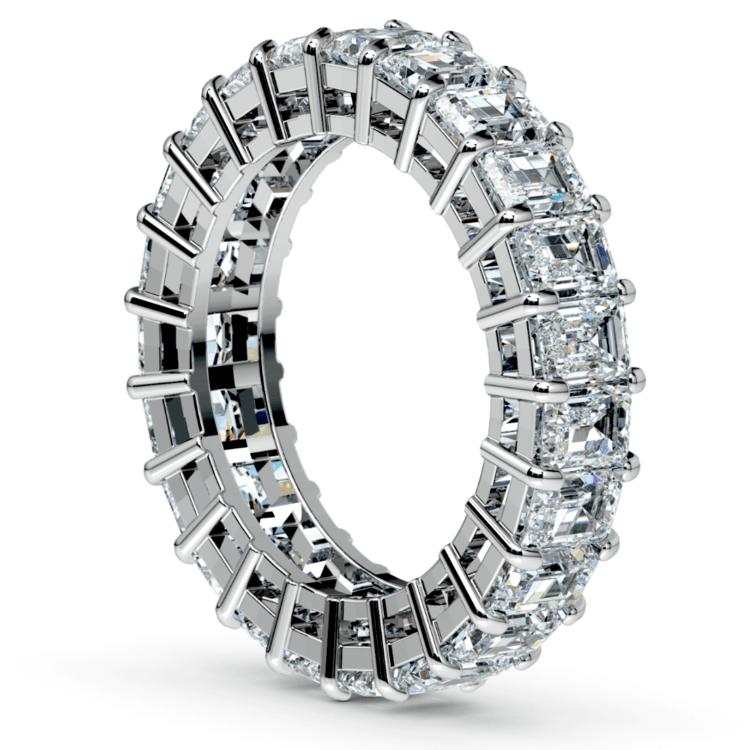 Emerald Diamond Eternity Ring in Platinum (5 2/3 ctw)   04