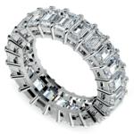 Emerald Diamond Eternity Ring in White Gold (7 3/5 ctw) | Thumbnail 01