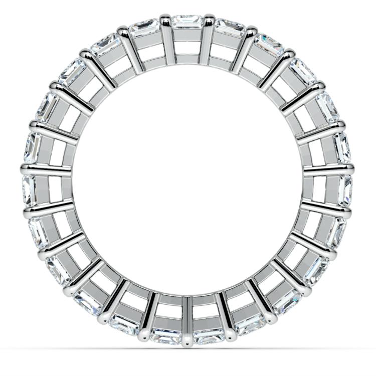 Emerald Diamond Eternity Ring in White Gold (7 3/5 ctw) | 03