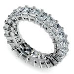 Emerald Diamond Eternity Ring in White Gold (5 2/3 ctw) | Thumbnail 01