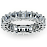 Emerald Diamond Eternity Ring in White Gold (5 2/3 ctw) | Thumbnail 02