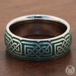Emerald Isle - Dara Knot & Green Cerakote Mens Band   Thumbnail 04