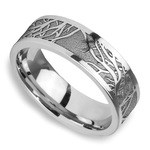 Enclave - Tree Branch Pattern Mens Band in Cobalt | Thumbnail 01