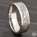 Enclave - Tree Branch Pattern Mens Band in Cobalt | Thumbnail 05