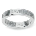 Engraved Flat Wedding Ring in Platinum (4mm) | Thumbnail 02