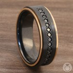 Monarch - Black Diamond Zirconium Mens Wedding Band | Thumbnail 05