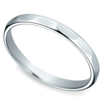 Faceted Women's Wedding Ring in White Gold | Thumbnail 01