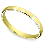 Faceted Women's Wedding Ring in Yellow Gold | Thumbnail 01