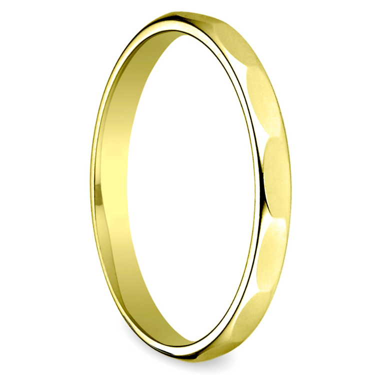Faceted Women's Wedding Ring in Yellow Gold | 02