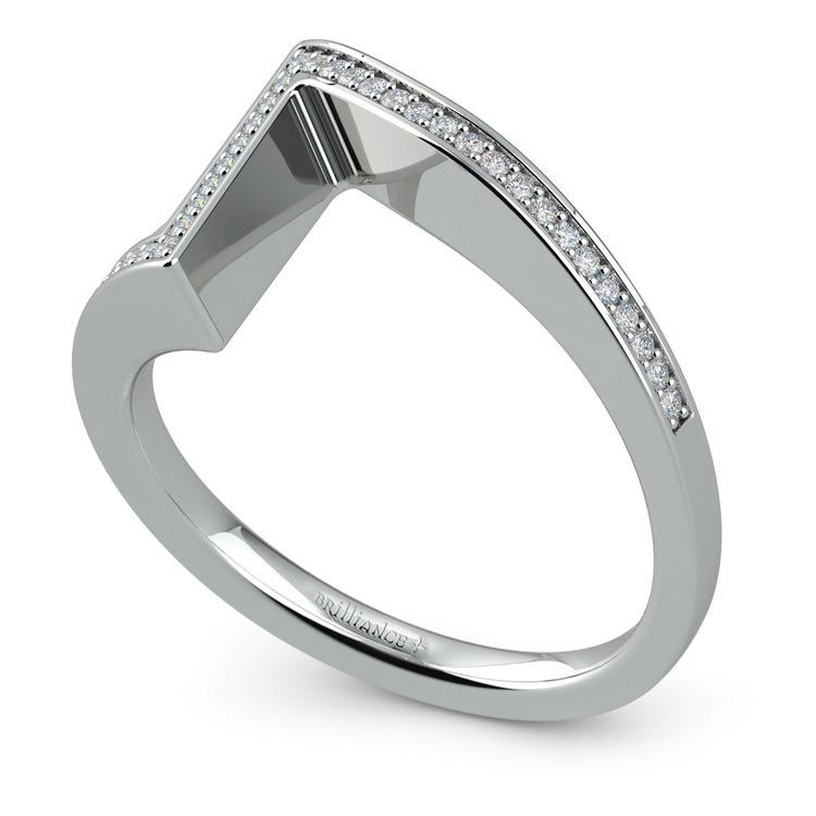 False Tension Wedding Band In Platinum - Matching Design   01