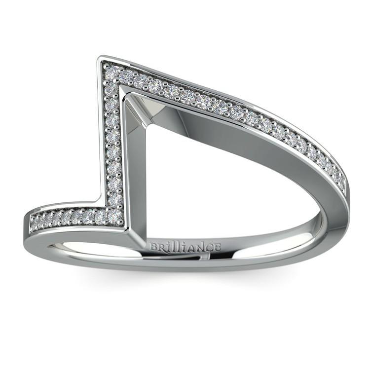False Tension Wedding Band In Platinum - Matching Design   02