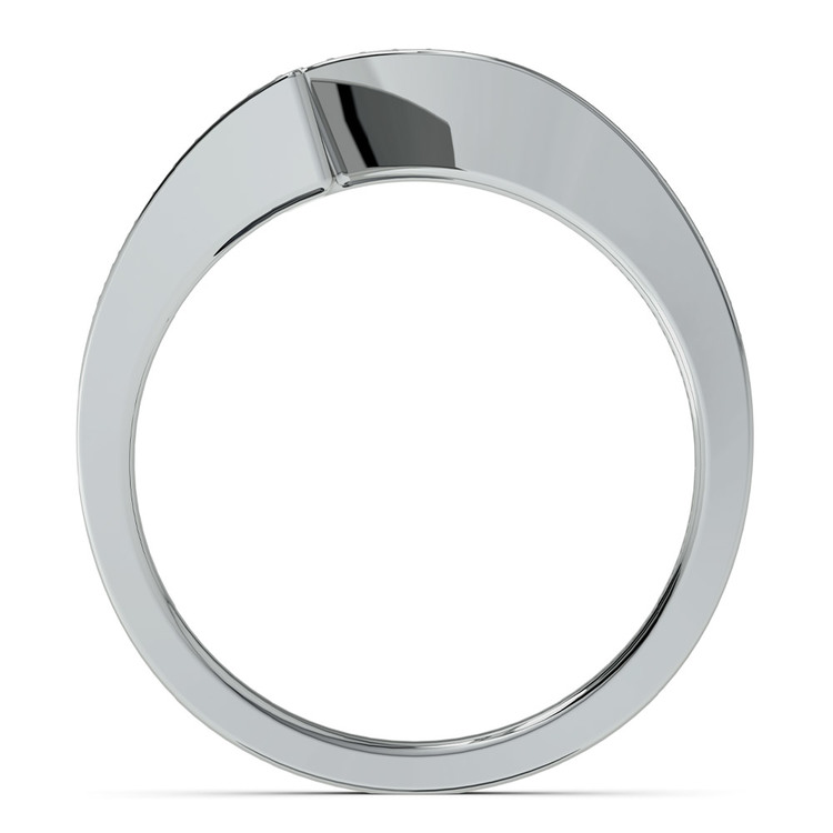 False Tension Wedding Band In Platinum - Matching Design   03