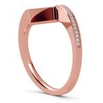 False Tension Wedding Band In Rose Gold - Matching Design   Thumbnail 04