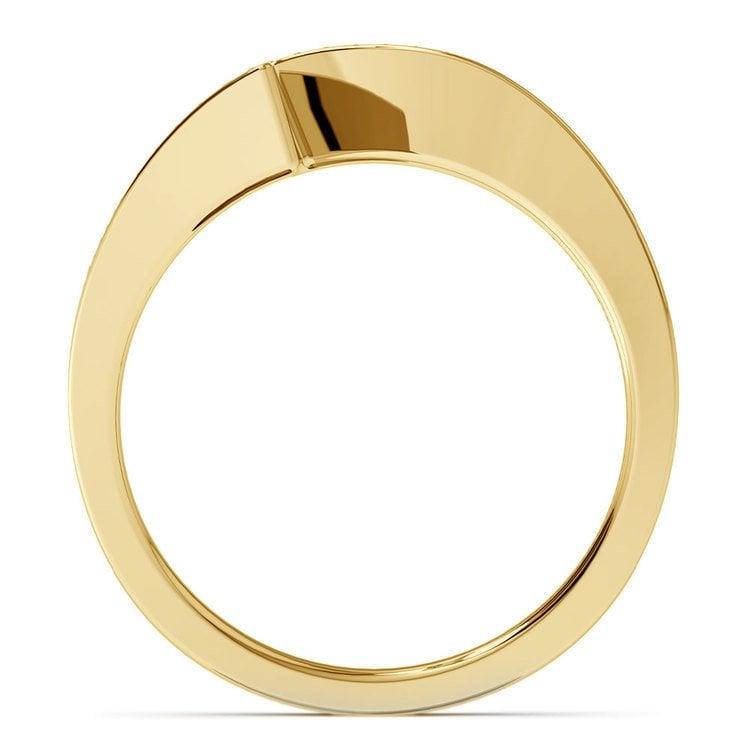 False Tension Wedding Band In Yellow Gold - Matching Design   03