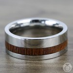 Fat Cat - Cobalt Chrome Mens Band with Leopard Wood Inlay | Thumbnail 03